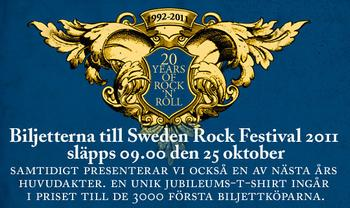 Dokumentär om Sweden Rock i Tv ikväll2 Nov